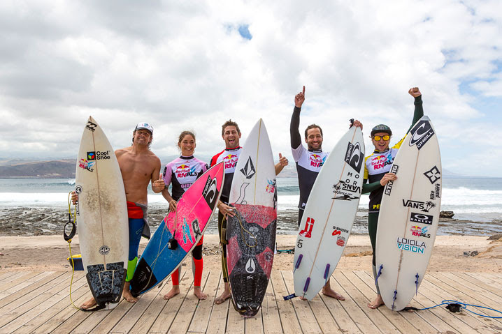 Equipo peninsular, ganador de la batalla en Canarias. Foto: Rubén Grimón/Red Bull Content Pool